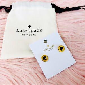 Kate Spade Black Heart Stud Earrings